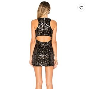 NWT NBD sequins back cut out dress size Small